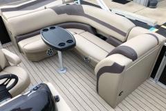 Wraparound Aft Seating of a 2020 Sylvan L1 Cruise Pontoon
