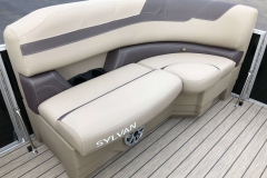 Port Side Bow Seating of a 2020 Sylvan L1 Cruise Pontoon
