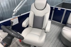 Hi-Back Captain's Chair of a 2020 Sylvan L1 Cruise Pontoon
