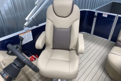High Back Captain's Chair of a 2020 Sylvan L1 Cruise Pontoon