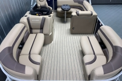 Teak Weave Vinyl Flooring of a 2020 Sylvan L1 Cruise Pontoon