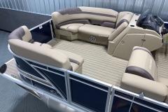Interior Bow Layout of a 2020 Sylvan L1 Cruise Pontoon 1