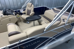 Interior Stern Layout of a 2020 Sylvan L1 Cruise Pontoon 1