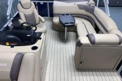 Interior Stern Layout of a 2020 Sylvan L1 Cruise Pontoon 2