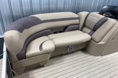 Starboard Side Tan Interior Seating of a 2020 Sylvan L1 Cruise Pontoon