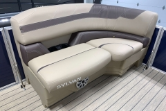 Port Side Tan Interior Seating of a 2020 Sylvan L1 Cruise Pontoon