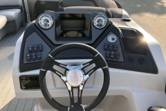 Drivers Console of a 2020 Sylvan L1 Cruise Pontoon