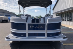 Blue and Silver Exterior of a 2020 Sylvan L1 LZ Pontoon 2