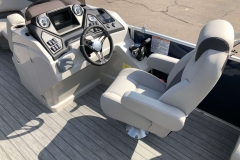Helm and Captain's Chair of a 2020 Sylvan L1 LZ Pontoon