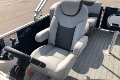 High Back Captain's Helm Chair of a 2020 Sylvan L1 LZ Pontoon