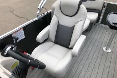 Hi-Back Captains Helm Chair of a 2020 Sylvan L1 LZ Pontoon