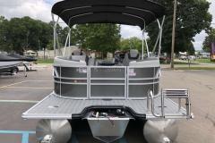 Extended Rear Swim Deck of a 2020 Sylvan L1 LZ Pontoon