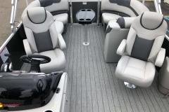 Interior Aft Layout of a 2020 Sylvan L1 LZ Pontoon