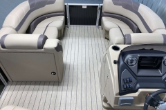 Interior Bow Layout of a 2020 Sylvan L1 LZ Tritoon 2