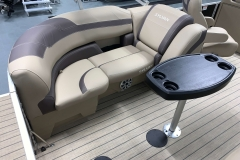Starboard Side Rear Seating of a 2020 Sylvan L1 LZ Tritoon