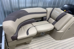 Starboard Side Bow Seating of a 2020 Sylvan L1 LZ Tritoon