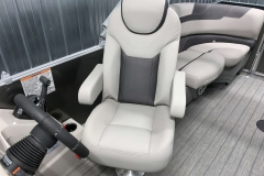 High Back Captain's Helm Chair of a 2020 Sylvan L1 LZ Tritoon