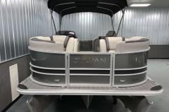 Carbon and Black Exterior of a 2020 Sylvan L1 LZ Tritoon 2