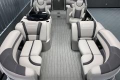 Gray Teak Weave Flooring of a 2020 Sylvan L1 LZ Tritoon