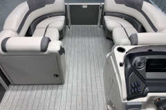 Interior Bow Layout of a 2020 Sylvan L1 LZ Tritoon