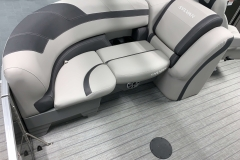 Port Side Aft Seating of a 2020 Sylvan L1 LZ Tritoon