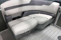Starboard Side Aft Seating of a 2020 Sylvan L1 LZ Tritoon