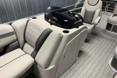 Helm and Captain's Chair of a 2020 Sylvan L3 CLZ Pontoon 2