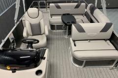 Interior Aft Layout of a 2020 Sylvan L3 CLZ Pontoon