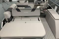 Swing Back Aft Seating of a 2020 Sylvan L3 CLZ Pontoon 1