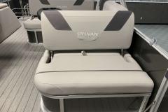Swing Back Aft Seating of a 2020 Sylvan L3 CLZ Pontoon 4
