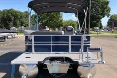 Extended Rear Swim Deck of a 2020 Sylvan L3 Cruise Pontoon