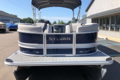 Blue and Silver Exterior of a 2020 Sylvan L3 Cruise Pontoon 2