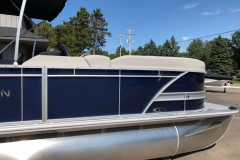 Blue and Silver Exterior of a 2020 Sylvan L3 Cruise Pontoon 3
