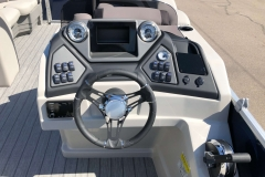 Drivers Console of a 2020 Sylvan L3 Cruise Pontoon 1