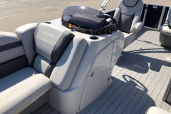 Helm and Captain's Chair of a 2020 Sylvan L3 Cruise Pontoon 2