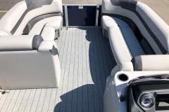 Interior Bow Layout of a 2020 Sylvan L3 Cruise Pontoon