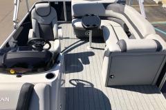 Interior Aft Layout of a 2020 Sylvan L3 Cruise Pontoon