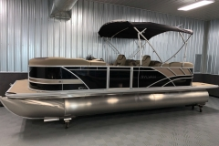 Black and Tan Exterior of a 2020 Sylvan L3 Cruise Pontoon 1