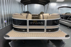Black and Tan Exterior of a 2020 Sylvan L3 Cruise Pontoon 2
