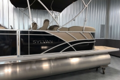 Black and Tan Exterior of a 2020 Sylvan L3 Cruise Pontoon 4