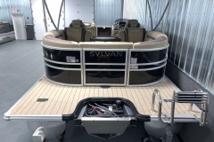 Extended Rear Swim Deck of a 2020 Sylvan L3 Cruise Pontoon