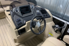 Driver's Console of a 2020 Sylvan L3 Cruise Pontoon