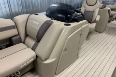 Helm of a 2020 Sylvan L3 Cruise Pontoon