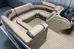 Interior Bow Layout of a 2020 Sylvan L3 Cruise Pontoon 1