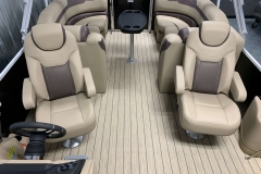 Interior Stern Layout of a 2020 Sylvan L3 Cruise Pontoon 2