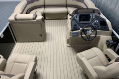 Interior Bow Layout of a 2020 Sylvan L3 Cruise Pontoon 2