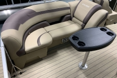 Port Side Tan Stern Seating of a 2020 Sylvan L3 Cruise Pontoon