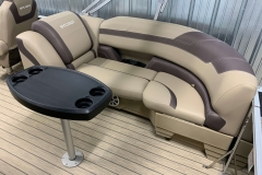 Starboard Side Tan Stern Seating of a 2020 Sylvan L3 Cruise Pontoon