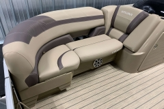 Starboard Side Bow Seating of a 2020 Sylvan L3 DLZ Pontoon
