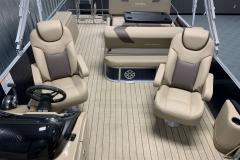Interior Aft Layout of a 2020 Sylvan L3 DLZ Pontoon